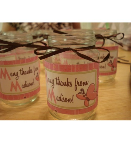 Mason jars can hold all sorts of treats! Just add a cute label.