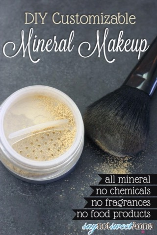 DIY Mineral Makeup  http://saynotsweetanne.com/2014/diy-mineral-makeup/