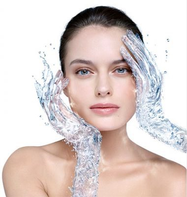 Wet your face with warm water to open your pores.
