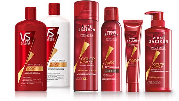 I love Vidal Sassoon's Color Finity line for shampoo and conditioner!