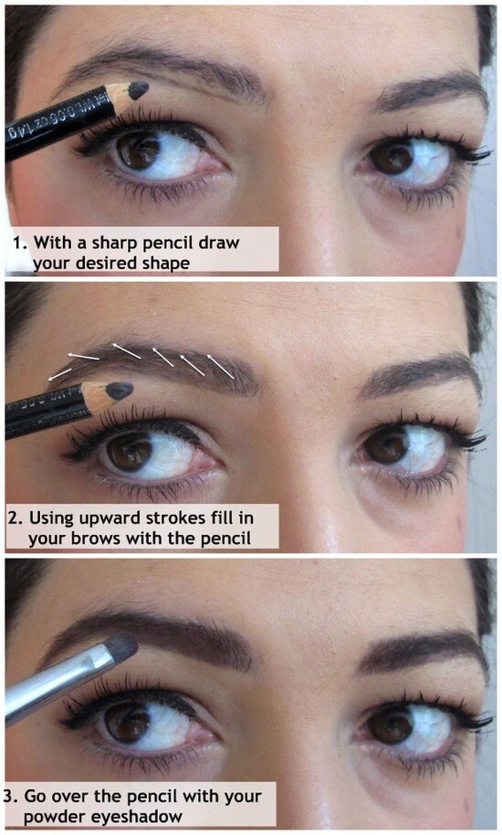 8. Use this guide to fill in your eyebrows.
