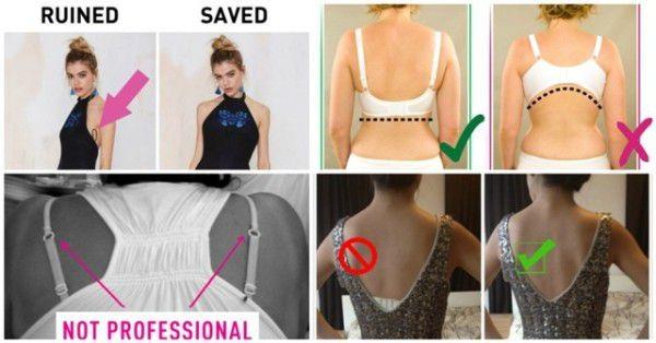 Paper clip the two bra straps and bye bye awkward razor back shirt 💁