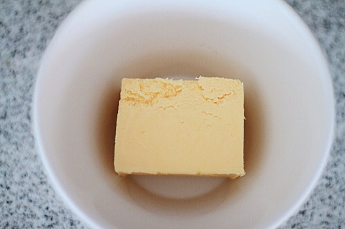 Method  Place 150g of butter in a oven proof bowl.