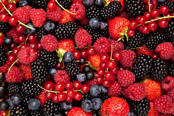 Berries are great at assisting in the removal of under eye bags