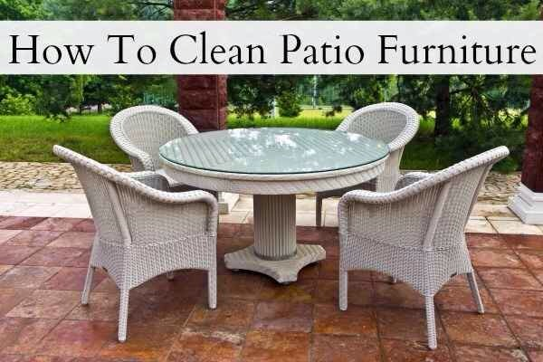 42.If you have patio furniture, pull it out onto your driveway (or somewhere that the runoff won't run into your grass), and give it a good scrub.