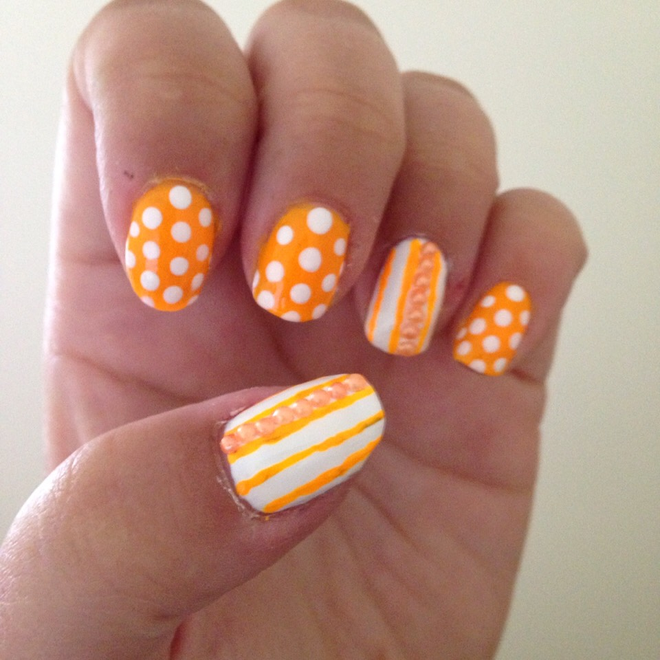Creamcicle inspired nails