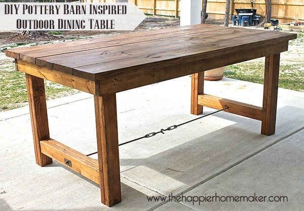 Contruct this sturdy outdoor dining table.