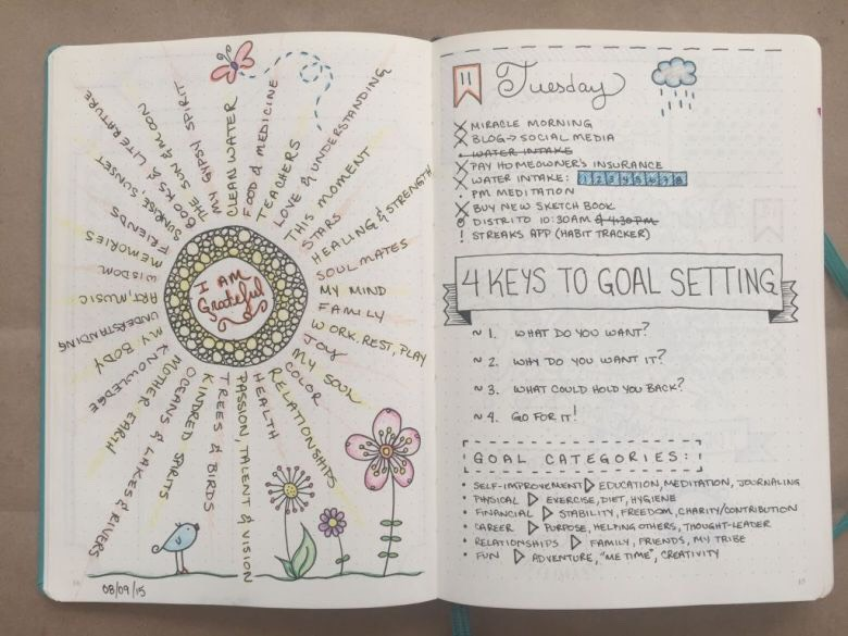 """This absolutely adorable page (especially the """"I am grateful"""" page - it's so mesmerising!)."""