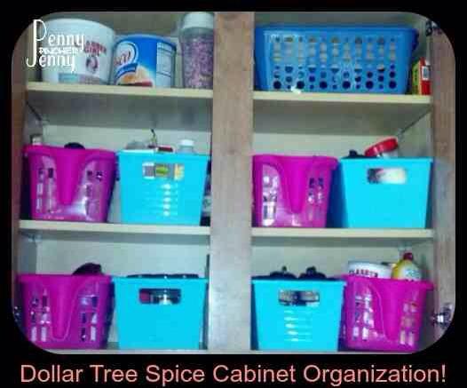 Spice Cabinet Organization! Dollar Tree Style!
