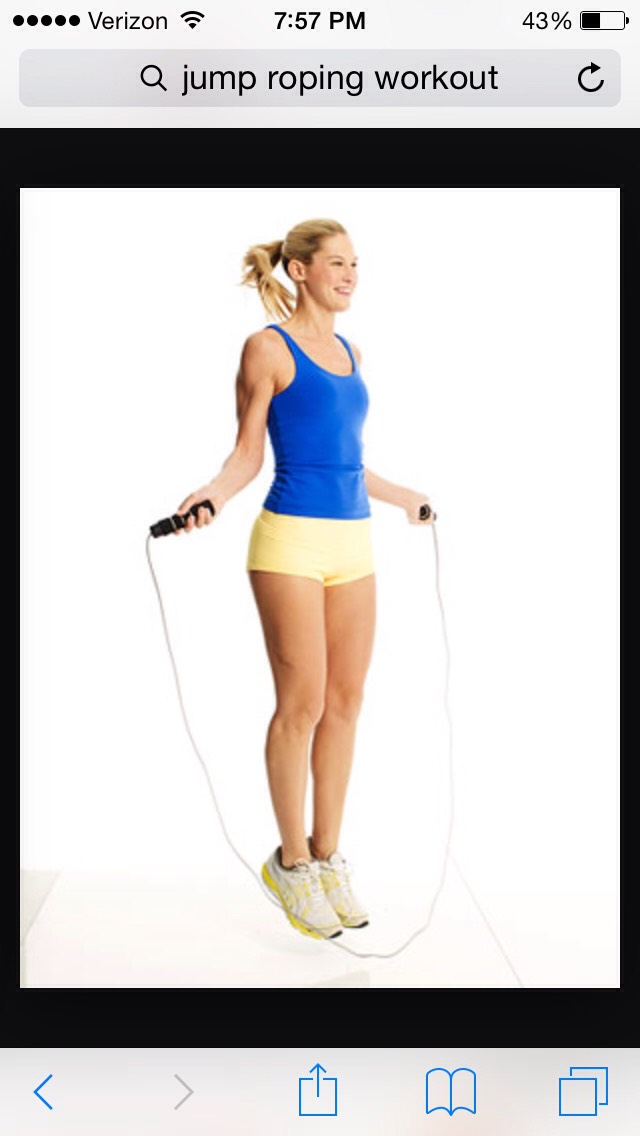 The last exercise is more jump roping to keep your blood flowing. It helps with your legs if you jump rope. You're gonna want to do about 1-2 minutes of it at the end.