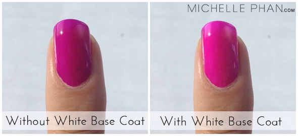 Use a white base coat to make neon nail polish really POP.