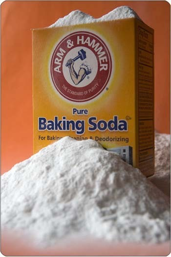 baking soda works for just about anything just like if you mix it with water it works as a teeth whitener