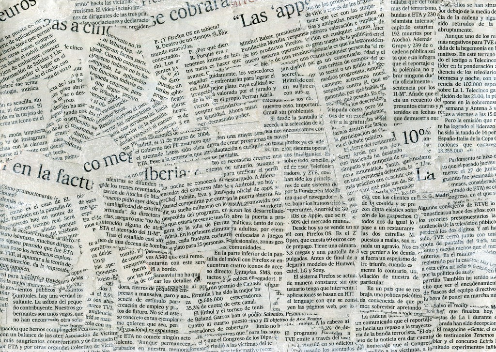 Cut up bits of news paper in nail sized pieces or bigger to cover your nail