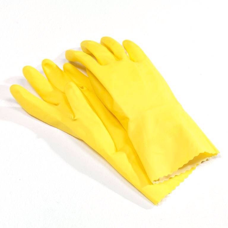 Wear gloves when washing dishes or using cleaners. These can be very harsh on your nails and cuticles, causing them to become dry, brittle and discoloured.