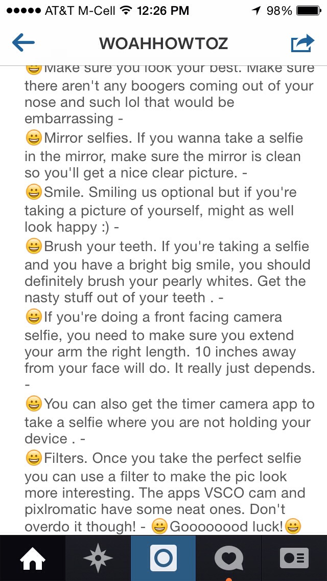 How to take great selfies💋