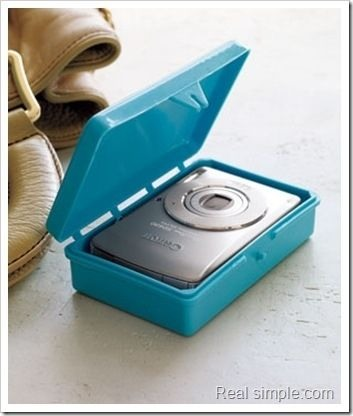 Protect your digital camera by using a soap case.