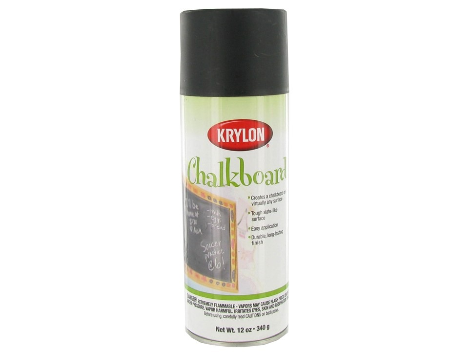 Spray the glass with chalkboard paint and put the glass back in
