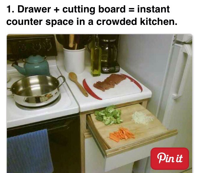 More counter space!