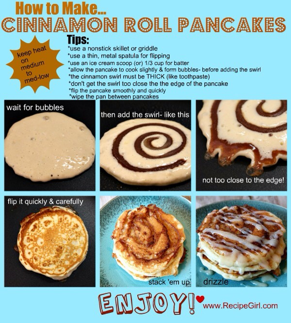 Click this for all the details>http://www.recipegirl.com/2011/03/01/cinnamon-roll-pancakes/