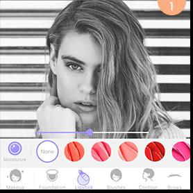 """First, take a selfie and turn it from color into black and white. Open MakeupPlus, tap on the """"Editor"""" button and select your black and white selfie. You want to make sure that under the """"Makeup"""" tool you have selected """"Original"""" which will leave your selfie as it currently is."""