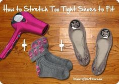 10. Or to stretch them out you can also put on socks before you put on the shoes and blowdry them.