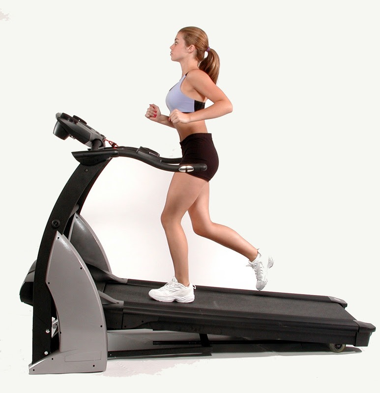 When on the treadmill, change the speed and elevation every 2 minutes, so your body doesn't get used to the same speed! You'll burn more calories and you'll get better results than you would if you were walking or running at the same pace the whole time!