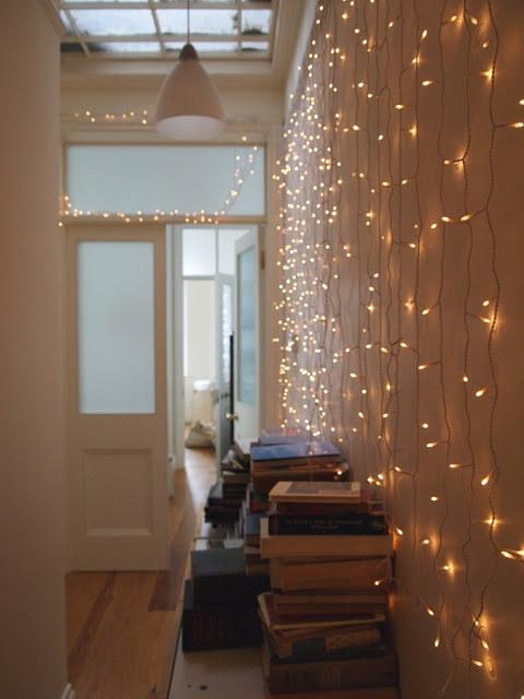 19. If all else fails, drape them along a wall to make the whole place shimmer like the stars.