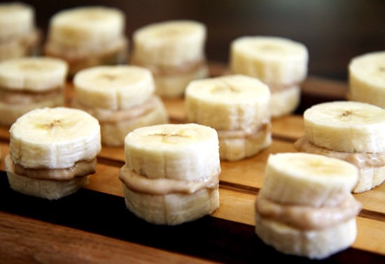 Youll want to eat peanut butter with apples orbananas. Eat one in the morning, after lunch and before bed!!