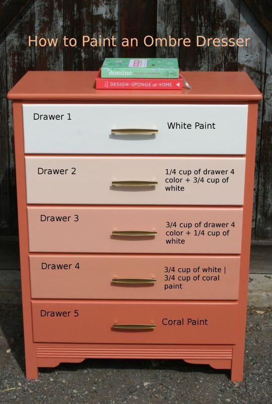 http://funcycled.com/projects/how-to-paint-an-ombre-dresser/