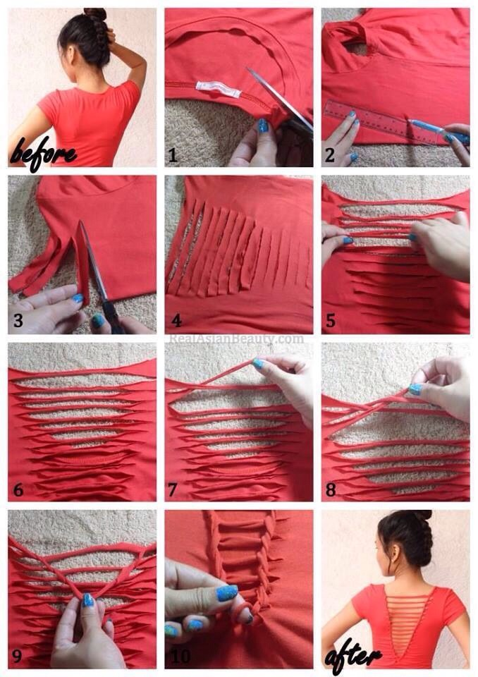 Turn your old shirt into something new!
