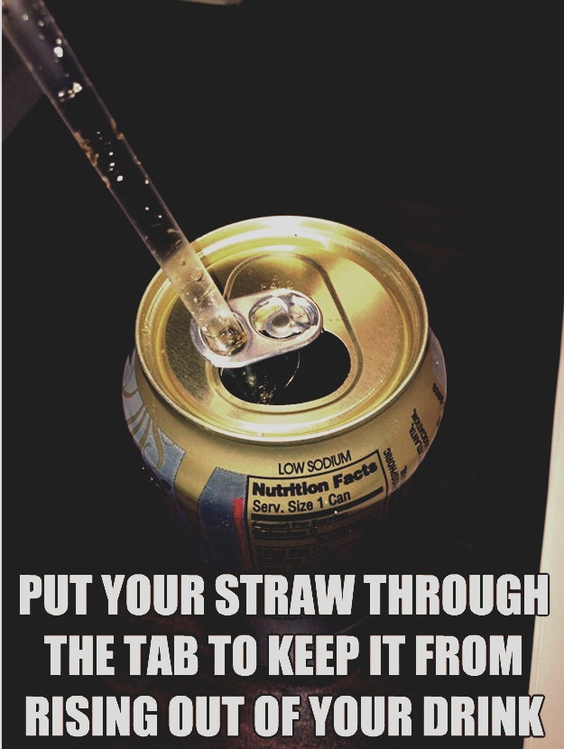 Do this to keep your straw from moving around !