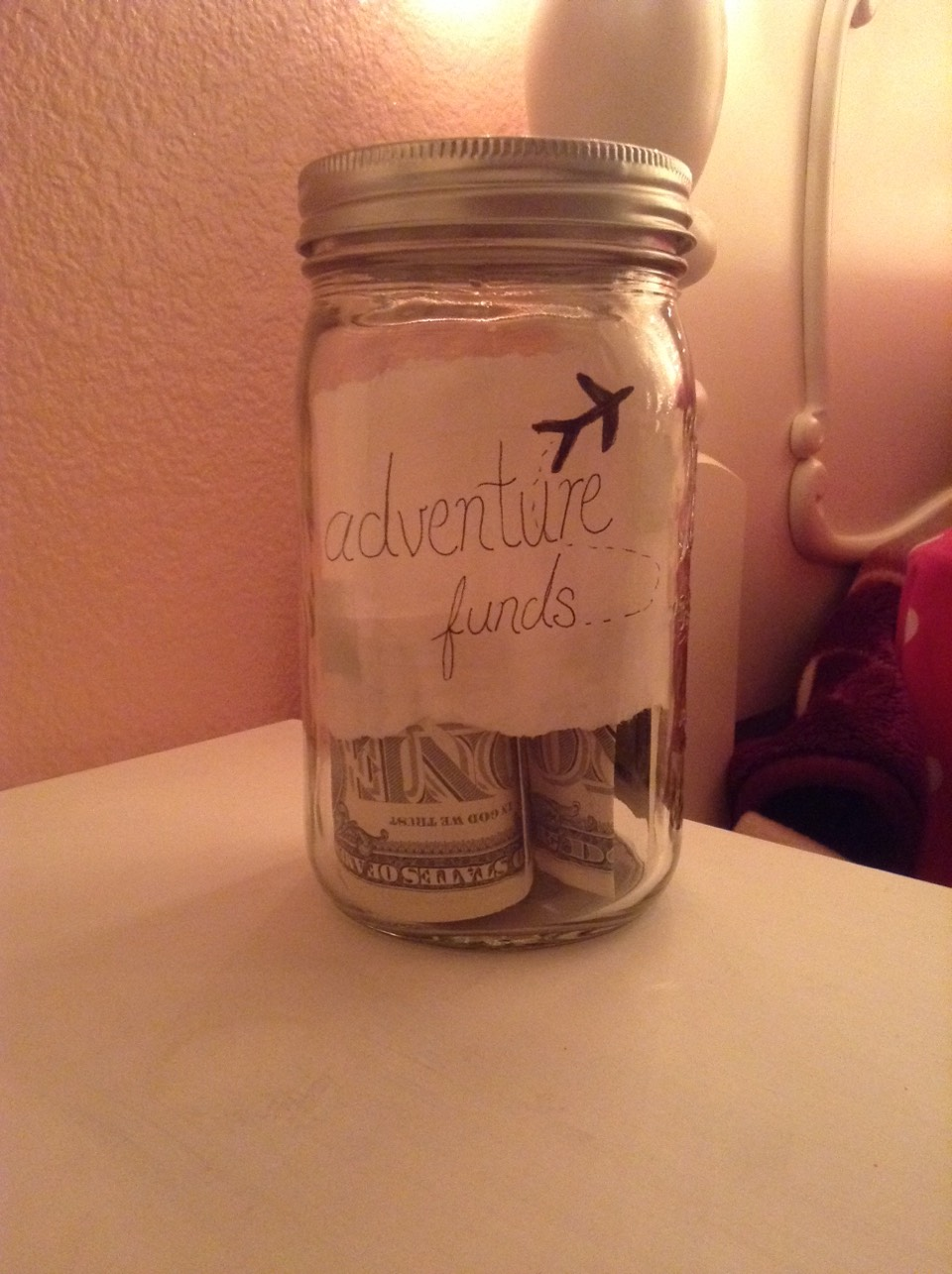 Put money aside in a mason jar for a special occasion