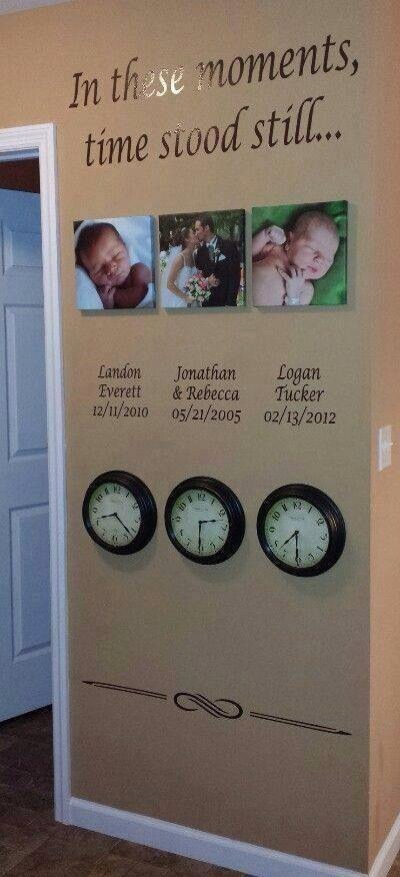 The time your child( ren ) were born. The date and time you were married. Use any special event!