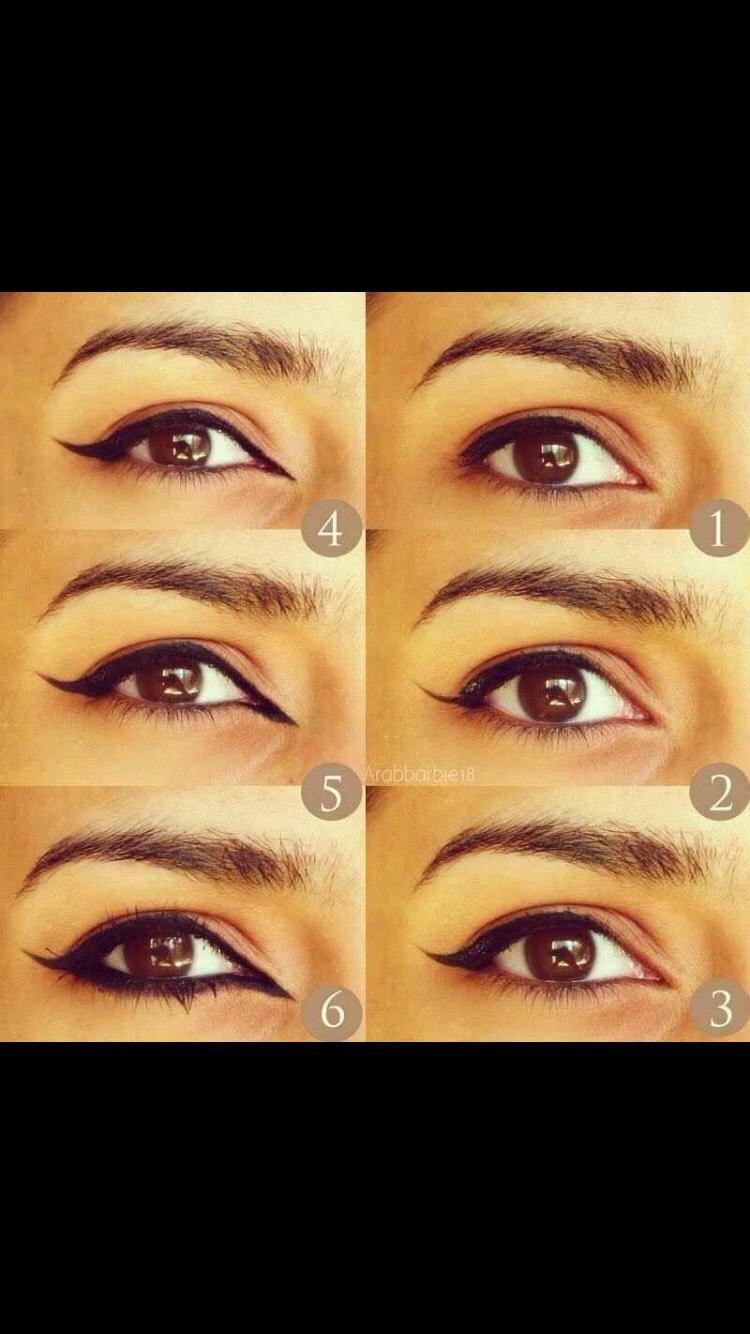 Arabic eyeliner look