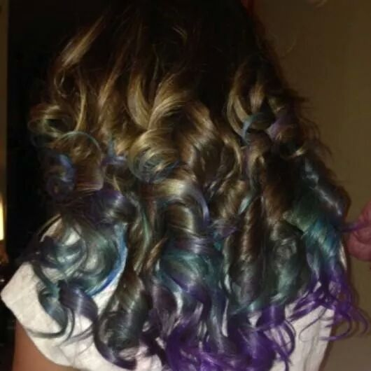 when u dye ur hair, it stays longer when u bleach it....