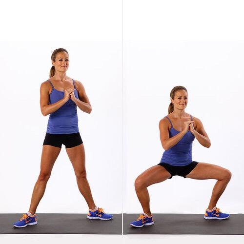 15 plié squats