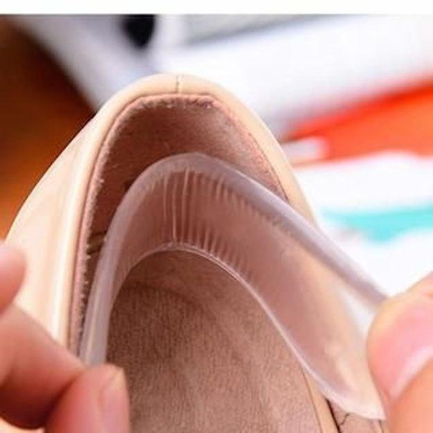 Prevent your heel from slipping out with heel grips.