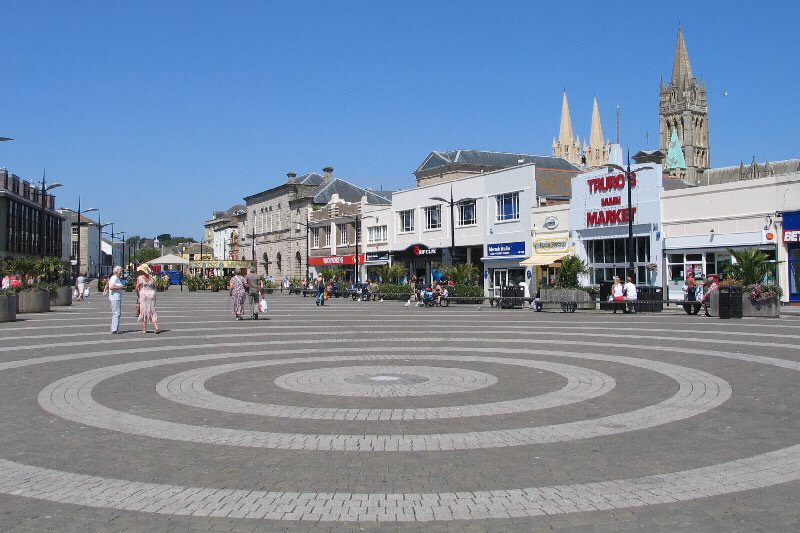Truro has many many shops to choose from. Restaurants and even a cinema. Has really good nightclubs and lots of beauty places also.