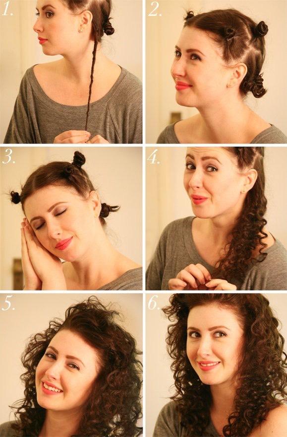 Красивая укладка на средние волосы в домашних