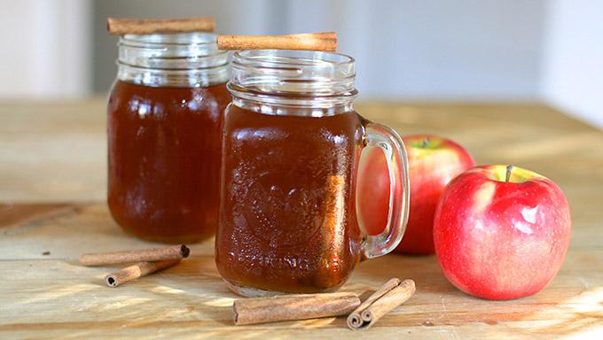 Of course, it may not last that long! Enjoy it hot or cold… garnish with a cinnamon stick and apple slice.  It's autumn in a jar!