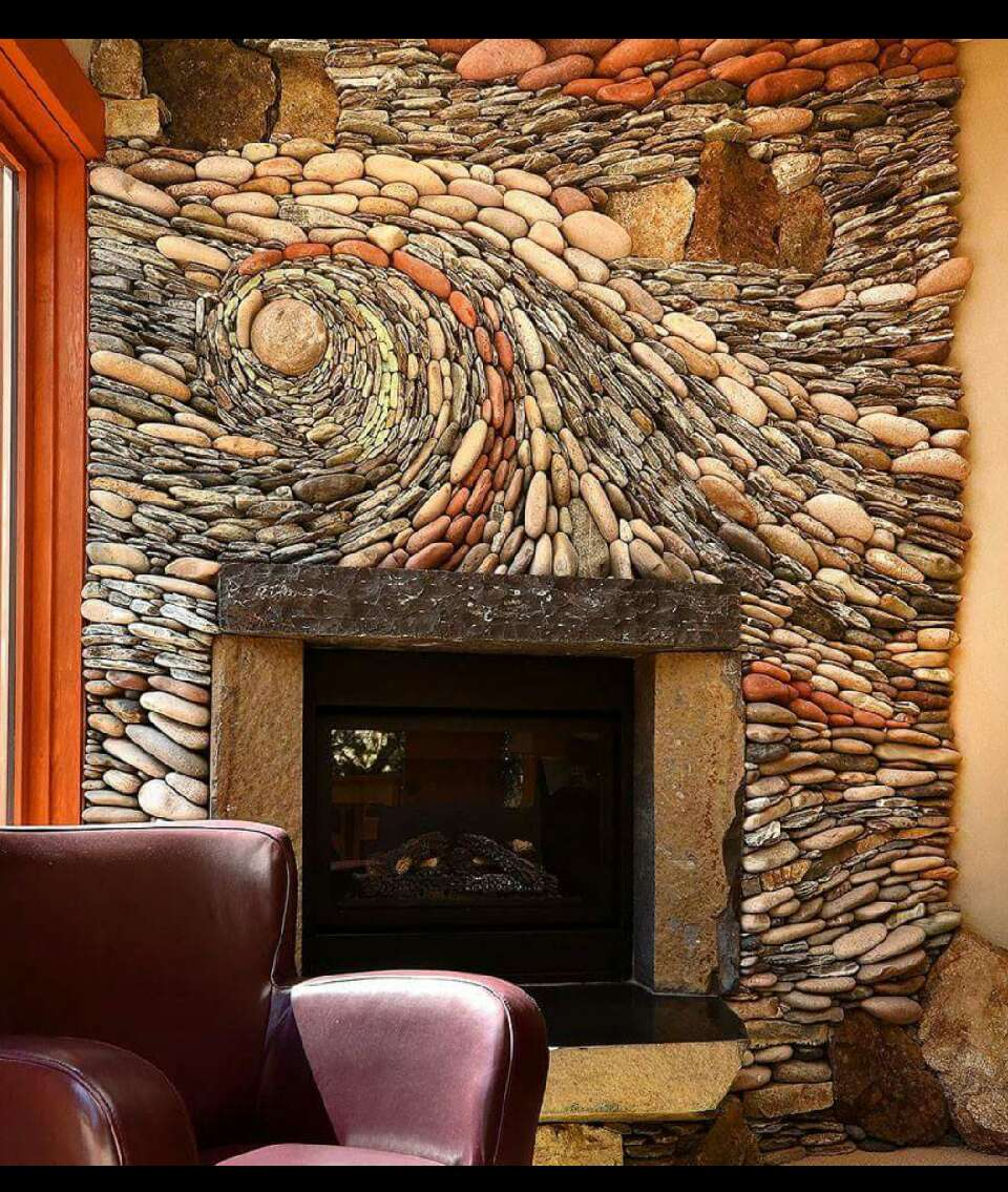 Rocks are one of nature's most beautiful gifts, make your fireplace stand out with them!