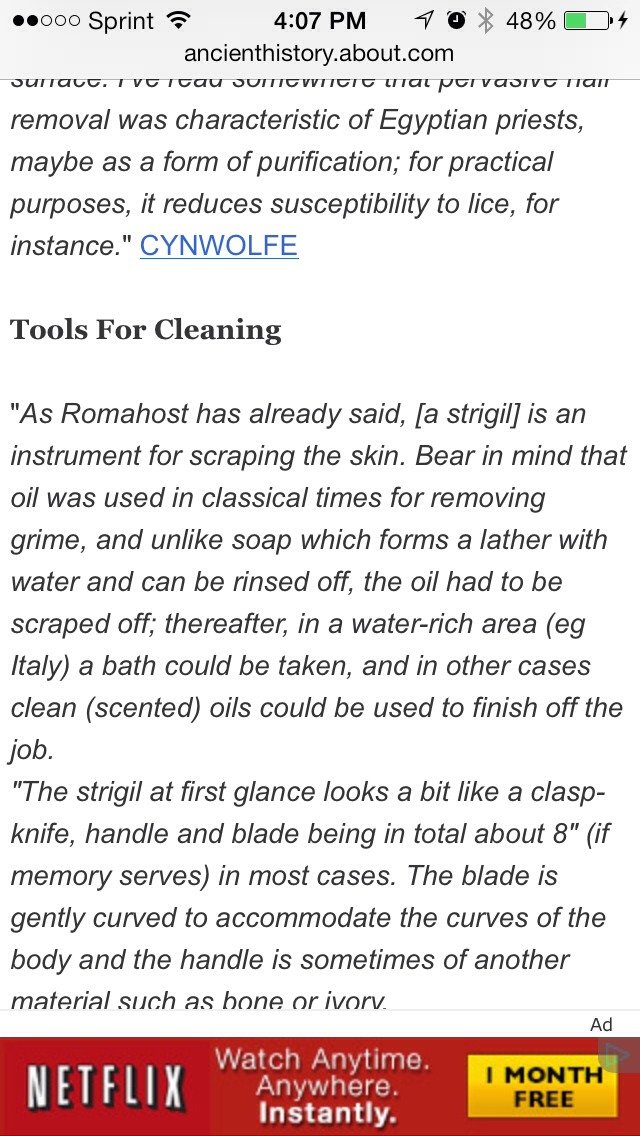 In ancient roman they exfoliated by using the strigil.. Let's upgrade this to modern times..