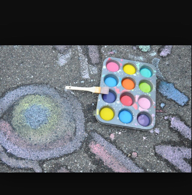 Side walk chalk PAINTING!