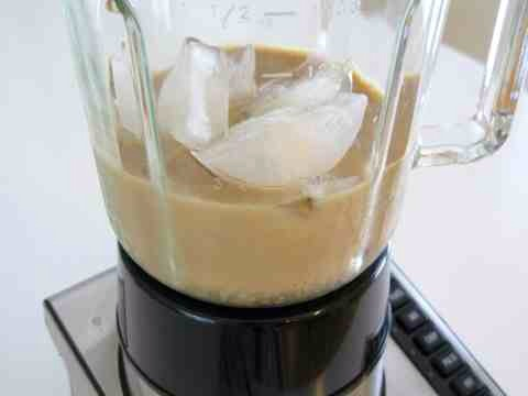 Depending on the strength of your blender, it may take a few stirs to get the ice moving.