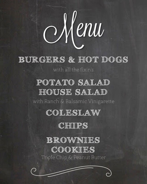 Have a chalkboard menu that way guests know what to expect for dinner. Maybe take some requests from them beforehand
