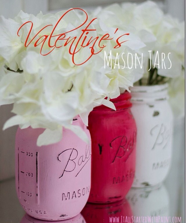 Spray paint a mason jar and put in flowers.