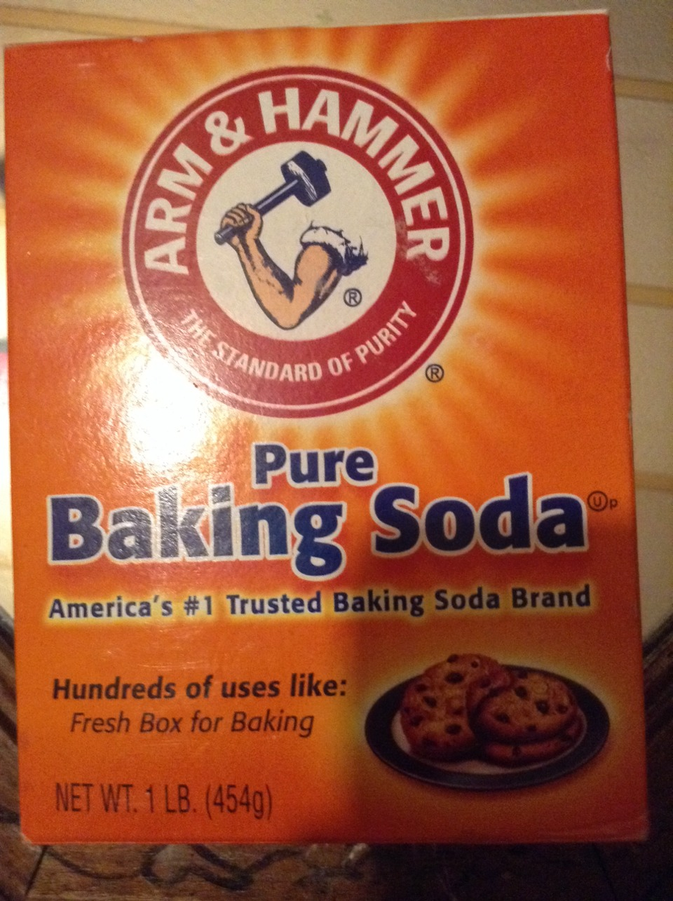 Take any baking soda and make a paste with water!