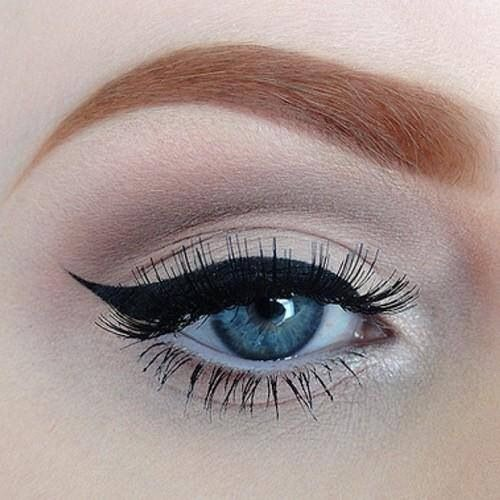 Intense Winged Eyeliner  It's bold and sharo. Winged eyeliner has been around forever, but it's even bigger this fall.