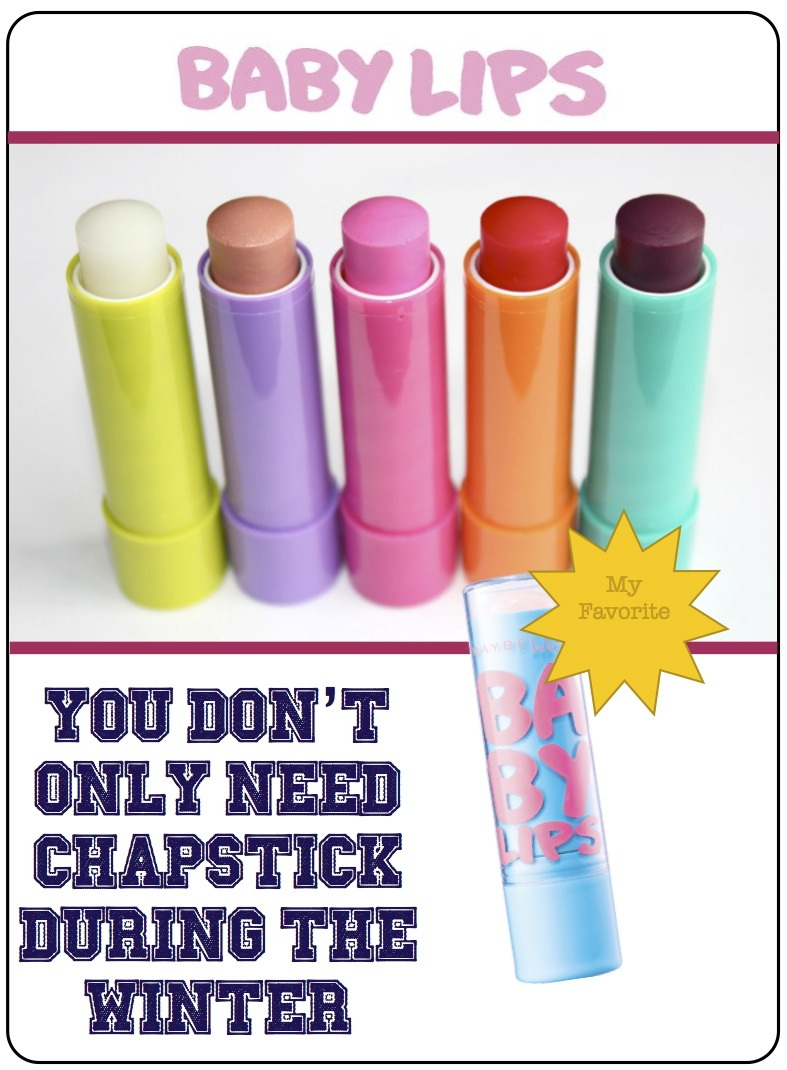 During the summer, wear chapstick or lip gloss with SPF. Your lips can get sunburn!