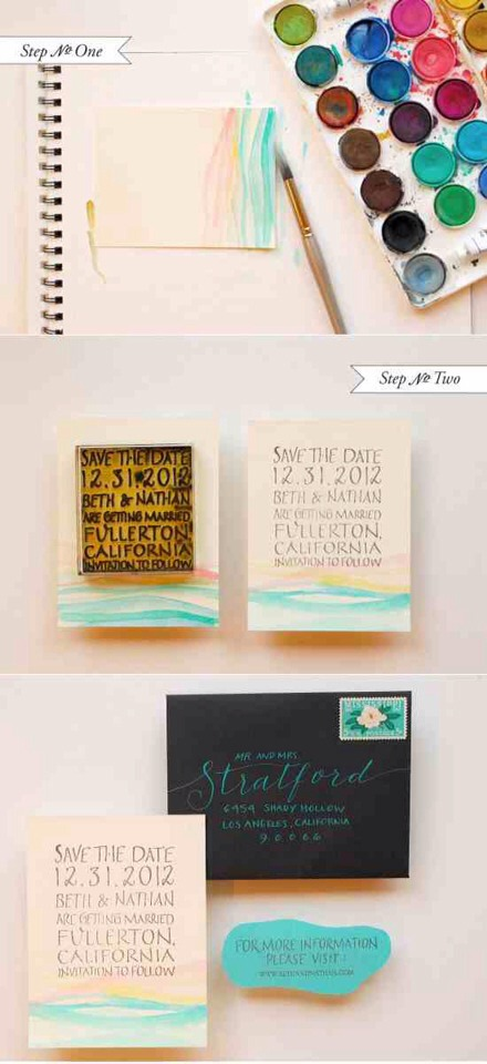 12. Watercolor Cards    You don't even need to be that artistically inclined to pull this off. Get the directions here.